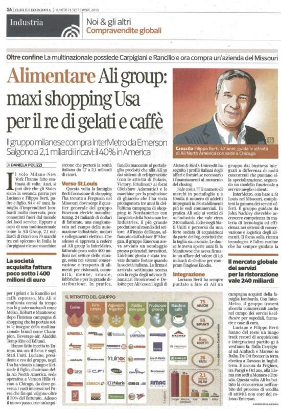 Made in Italy. Alimentari: Ali group - 1